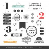 foto of arrow  - Hipster style infographics elements set for retro design - JPG