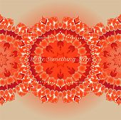 picture of macrame  - vector delicate blue lace round mandala pattern - JPG