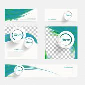 image of pamphlet  - Vector brochure with circles and wave for template leaflet booklet design - JPG