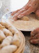foto of pasteis  - Preparing a homemade croquettes - JPG