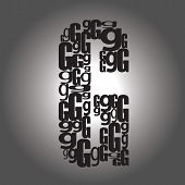 pic of cursive  - Abstract Letter G Icon - JPG