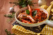 picture of stew  - Rabbit stew with vegetables and herbs - JPG