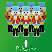 image of nutcracker  - a set of nutcracker soldiers on a background - JPG