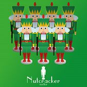 picture of nutcracker  - a set of nutcracker soldiers on a background - JPG