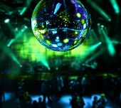 pic of mirror  - Dancing under disco mirror ball night club background - JPG
