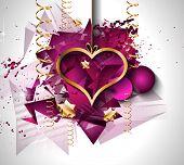 stock photo of dinner invitation  - Valentines Day background for dinner invitations - JPG