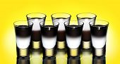 picture of shot glasses  - Taxi shot cocktail concept - JPG