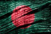 foto of bangladesh  - Grunge Bangladesh Flag on old wood background - JPG