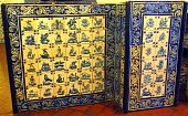 Famous Portuguese Blue And White Decorative Tiles Also Known As Azulejos poster