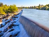 picture of hydroelectric power  - Idaho Falls Power HydroElectric project on Snakr River - JPG