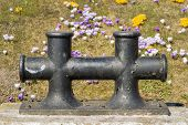 stock photo of bollard  - Image of a double bollard in Northern Germany - JPG