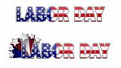 image of labor  - Happy Labor Day with star - JPG