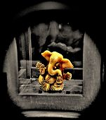 image of ganesh  - Peering through the lens to see Ganesh.