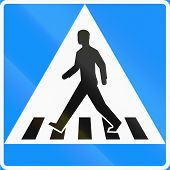 stock photo of pedestrian crossing  - Road sign 511 in Finland  - JPG
