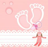 pic of pacifier  - Baby shower card with pacifier and rag - JPG