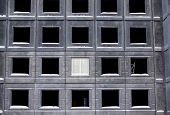pic of reinforcing  - Unfinished building of reinforced concrete panels without windows - JPG