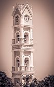 picture of yucatan  - Beautiful old spanish bell tower on Yucatan Mexico - JPG