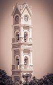 foto of yucatan  - Beautiful old spanish bell tower on Yucatan Mexico - JPG