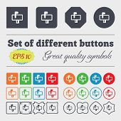 stock photo of mailbox  - Mailbox icon sign Big set of colorful diverse high - JPG