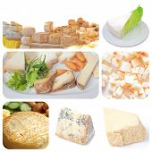 stock photo of tomas  - Vegetarian food collage - JPG