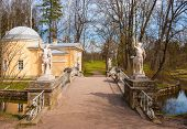 stock photo of centaur  - Bridge with sculptures of centaurs in Pavlovsk park - JPG