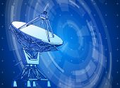 picture of sonar  - satellite dishes antenna  - JPG