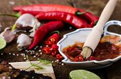 foto of marinade  - Ribs in spicy marinade with chilli honey and beer - JPG
