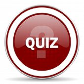 stock photo of quiz  - quiz red glossy web icon