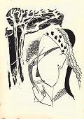 stock photo of fine art portrait  - Gypsy woman - JPG