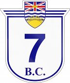 foto of number 7  - Shield for the British Columbia Highway number 7 - JPG