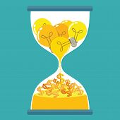 picture of sand dollar  - Hourglass with idea for money  - JPG