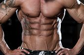 image of abs  - Close Up Of A Perfect Abs  - JPG