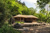 picture of shacks  - Old traditional Korean house near Baugil in daegwallyeong Gangneung South Korea - JPG