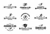 stock photo of clubbing  - Running club labels templates - JPG