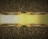 foto of nameplates  - The texture of golden sand with a nameplate - JPG
