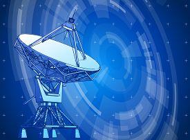 picture of antenna  - satellite dishes antenna  - JPG