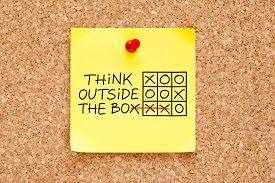 picture of thinking outside box  - Think Outside The Box tic - JPG
