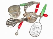 image of flour sifter  - an array of kitchen gadgets for a cook - JPG