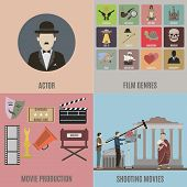 Постер, плакат: Creating Movies Icons