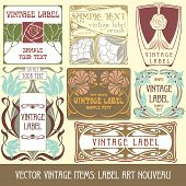image of art nouveau  - Vector vintage items - JPG