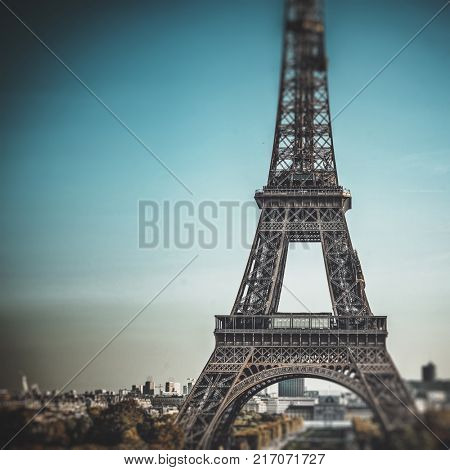 poster of Tour Eiffel (Eiffel tower) in Paris, France, Europe