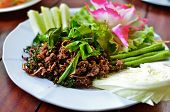 Spicy Fried Pork With Vegetables poster