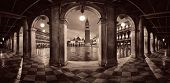 Hallway night panorama view at Piazza San Marco in Venice, Italy. poster