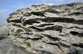 stock photo of errat  - Eroded Limestone Glacial Erratic bolder The Burren - JPG