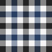 Tartan Plaid. Scottish Pattern In Black, Blue And White Cage. Scottish Cage. Traditional Scottish Ch poster