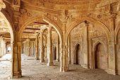 stock photo of mosk  - Ruins of Afghan architecture in Mandu - JPG