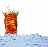 picture of ice-cubes  - Cola drink with ice cubes - JPG