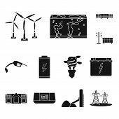 Isolated Object Of Climate And Alternative Logo. Collection Of Climate And Nature Stock Vector Illus poster
