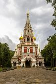 Shipka Memorial Church Or Memorial Temple Of The Birth Of Christ Built Between 1885 And 1902 In The  poster