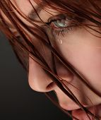 foto of sob  - beauty girl cry - JPG
